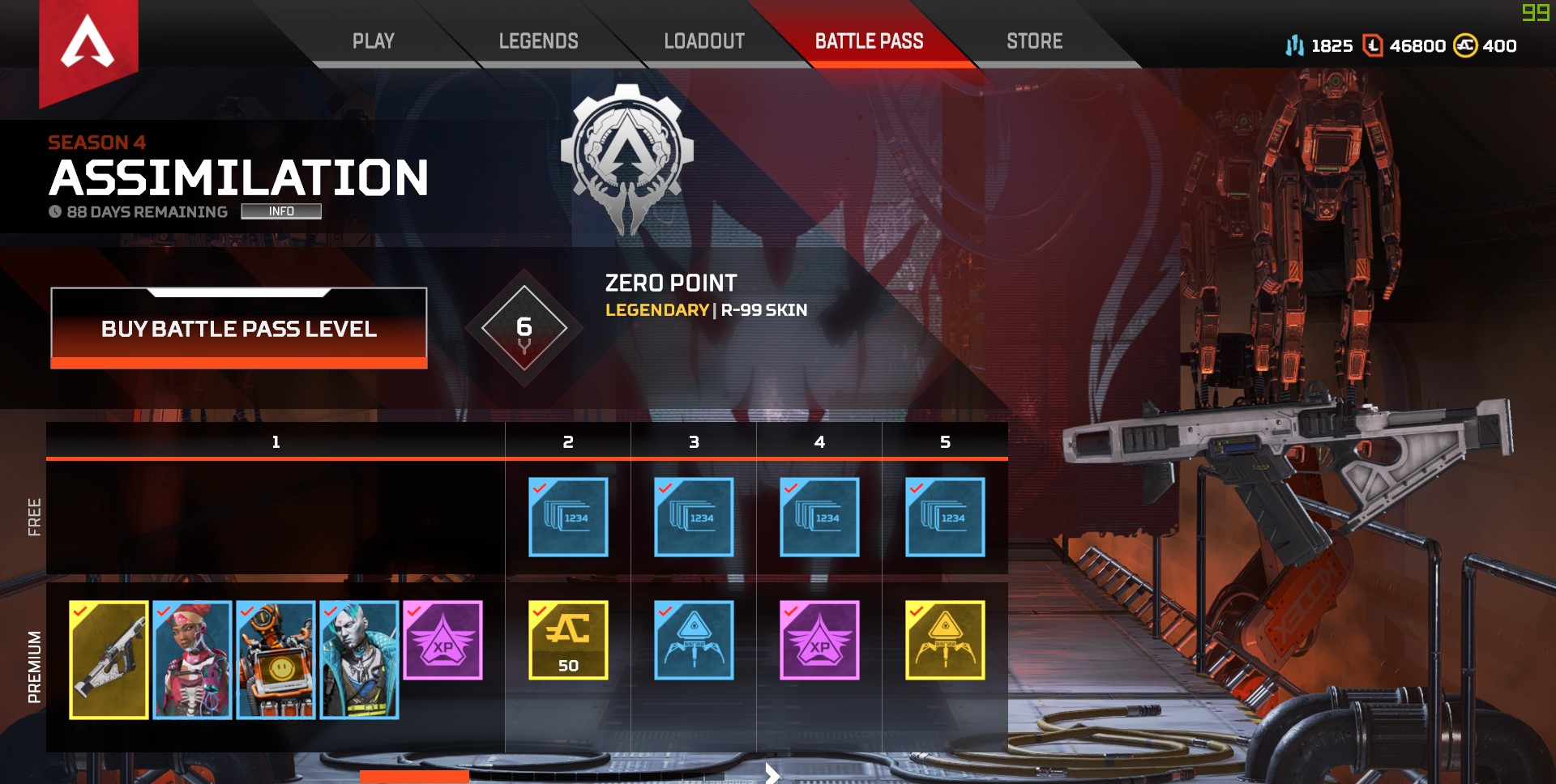 Apex Legends Calendario Battle Pass season 4