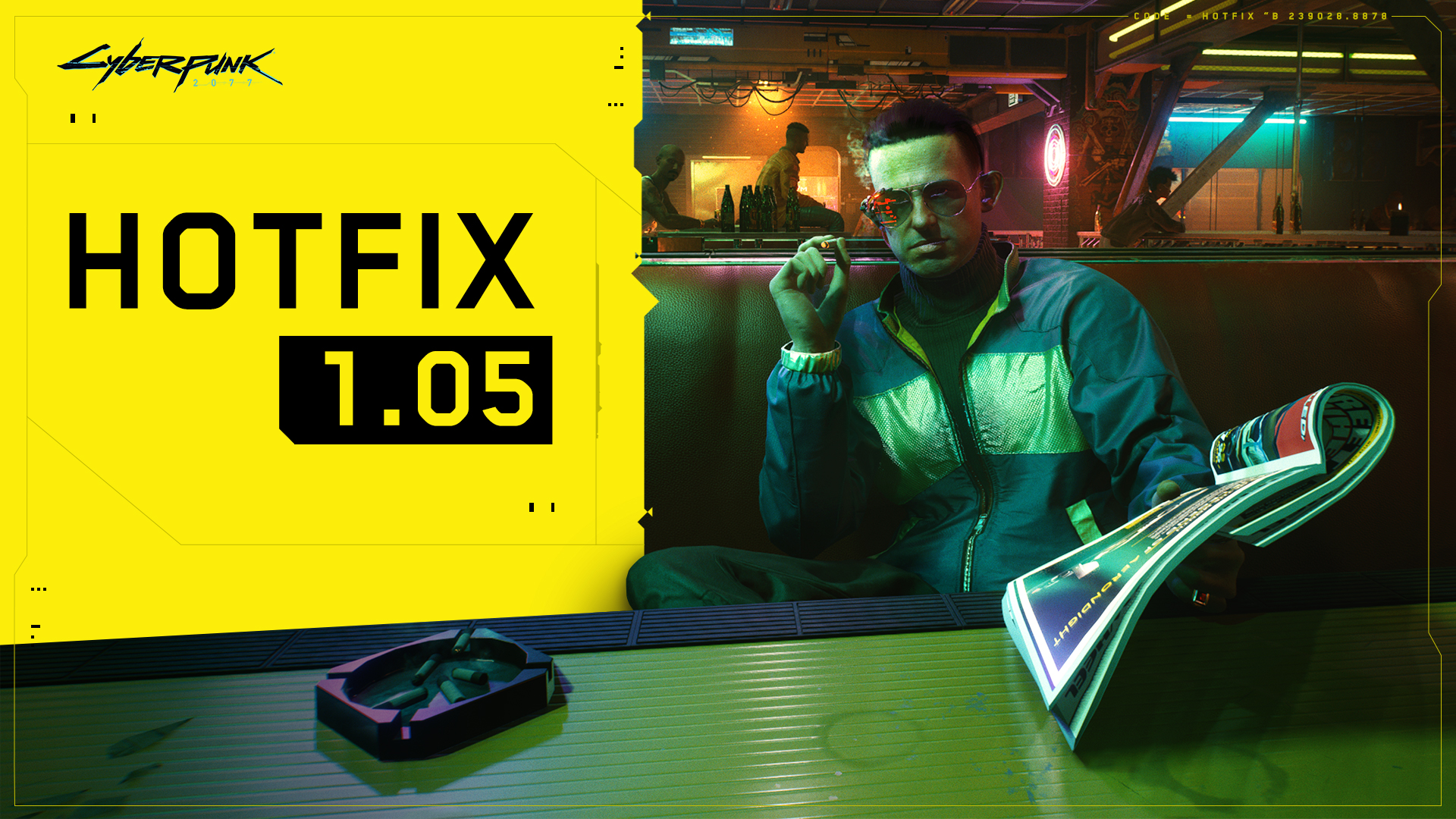 Cyberpunk 2077: disponibile l'hotfix 1.05 per PS4 e Xbox One